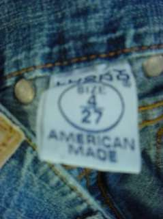 Lucky Brand Dungarees Womens/Jrs  Decoy Crop Jeans  Size 4 (measures