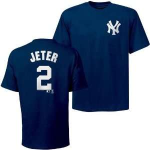 New York Yankees Derek Jeter Name and Number T Shirt (Navy
