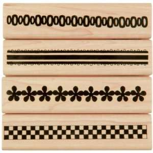 Penny Black Rubber Stamp Set 4X4 Ribbons 1 Arts, Crafts
