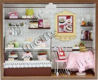 Dollhouse Miniature Kit w/ Light Cake Love Bakery Shop