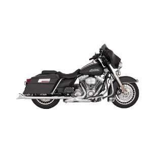 Vance & Hines Chrome Fishtail Slip Ons for 1995 2012 Harley Touring