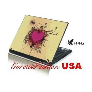 15.4 Laptop Notebook Skins Sticker Cover H46 Pink Heart