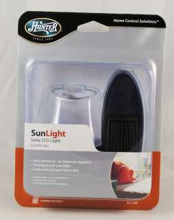 Hunter Solar Powered Mini LED Flashlight and Area Light 049694451002