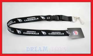 NFL Arizona Cardinals Lanyard Key Chain Football Black