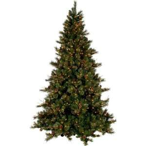 PRE LIT CASHMERE PINE CHRISTMAS TREE W CONES   7.5 TALL