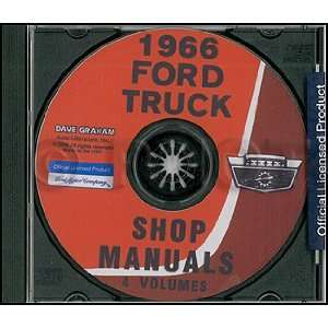 1966 Ford Truck Repair Shop Manual Set CD ROM Books