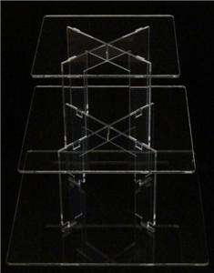 TIER SQUARE ACRYLIC CUPCAKE PARTY WEDDING CAKE STAND
