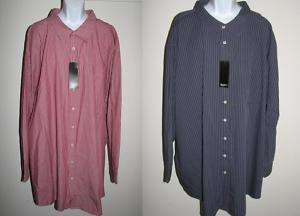New BRUNO Long Sleeve Mens 6XL Shirt Big & Tall NWT
