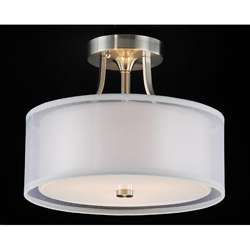 Altea 3 light Satin Nickel Flush Mount Chandelier