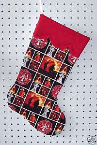 NEW Handmade Christmas Stocking FIREFIGHTER Fireman