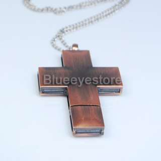 4GB Metal Cross Necklace Jewelry USB 2.0 Flash Memory Pen Drive Real