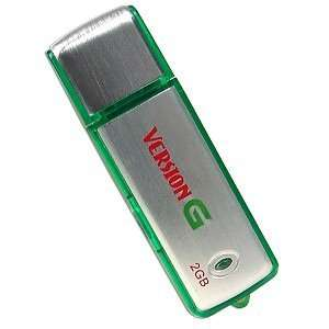 2GB USB 2.0 Portable Flash Drive (Silver/Green)