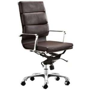 Zuo Espresso Adjustable Height Director Office Chair