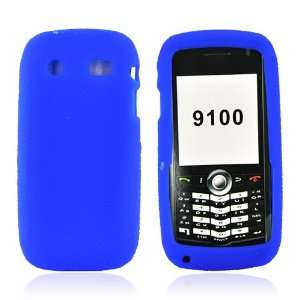 for Blackberry Pearl 9100 Striker Silicone Case BLUE