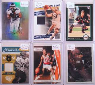 Huge 800+ Auto Jersey Ref/Xfrac RC Ser #ed Card Lot Ryan Howard RC