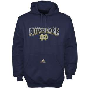 adidas Notre Dame Fighting Irish Navy Blue Book Smart Hoody Sweatshirt