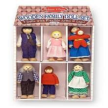 Melissa & Doug Wooden Family Doll Set   Melissa & Doug