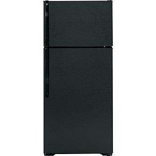 Black  GE Appliances Refrigerators Top Freezer Refrigerators