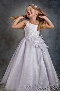 FLOWER GIRL PAGEANT PARTY HOLIDAY DRESS 3385 WHITE SIZE 5 6