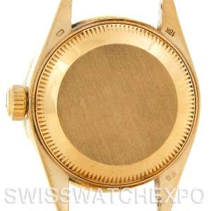 Rolex President Ladies 18k Yellow Gold Diamonds 69178