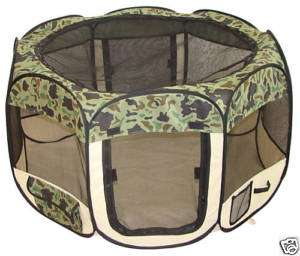 Camouflage Cat Pet Dog Puppy Playpen Exercise Pen XS 814836014182
