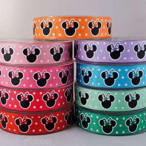 10 Y 7/8 Polka Dot Minnie Mouse Grosgrain Ribbon U Pick
