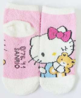 Hello Kitty womens girls winter soft warm christmas pink socks lot #1