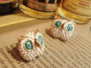 Gk4514 New Fashion Jewelry Womens Owl Stud Earring