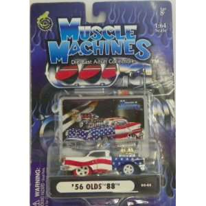 Muscle Machines 1/64 Scale Diecast 1956 Olds 88 in Color