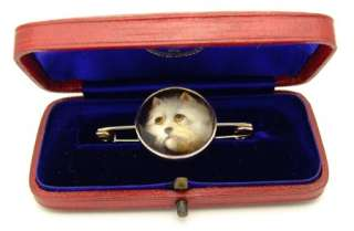 GOLD ENAMEL WEST HIGHLAND WHITE CAIRN TERRIER DOG BROOCH PIN