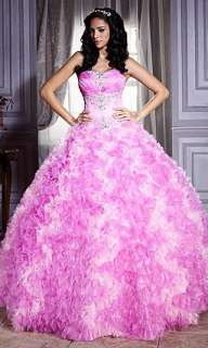 This Pink Quinceanera dress from the House of Wu is chic and elegant
