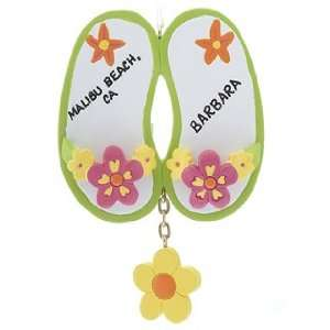 Personalized Flower Sandals Christmas Ornament
