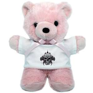 Teddy Bear Pink Tribal Skull