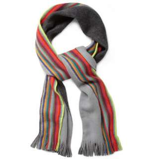 Accessories  Scarves  Printed scarves  Reversible Wool Scarf