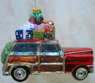 RADKO Santa Sedan ORNAMENT Station Wagon WOODY 1014882