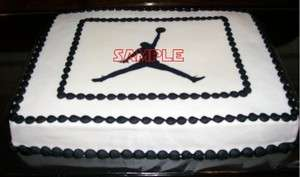 Sheet Nike Michael Air Jordan Basketball Shoes Edible Frosting
