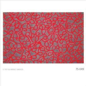 75049 Accent Squiggles Red / Sky Blue Outdoor Rug Furniture & Decor