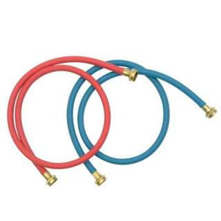 Whirlpool 5 Ft. Commercial Grade Washer Hoses   2 Pack 8212545RP at