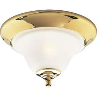 Progress Lighting Trinity Collection Polished Brass 1 Light Flushmount