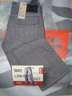 LEVIS 527 ROSAS MENS BOOT CUT ZIP FLY FLAP POCKETS JEANS CRISPY GREY