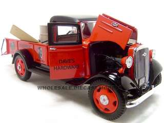 Brand new 124 scale diecast model of 1935 Chevrolet Pickup die cast