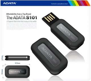 ADATA S101 4GB USB Flash Pen Drive Memory Disk Black Waterproof
