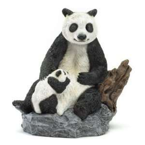 Panda Bear and Cub Figurine