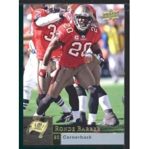 Ronde Barber   Buccaneers   2009 Upper Deck NFL Football Trading Card