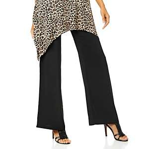 DG2 Crepe de Chine Pull On Wide Leg Palazzo Pants