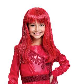 Girls Glitzy Glamour Red Wig   Costume Wigs