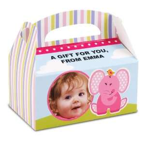 Elephants 1st Birthday Personalized Empty Favor Boxes Toys & Games