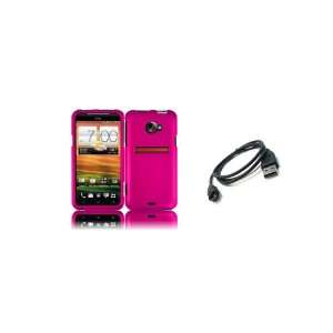 4G LTE (Sprint) Premium Combo Pack   Hot Pink Hard Shield Case Cover