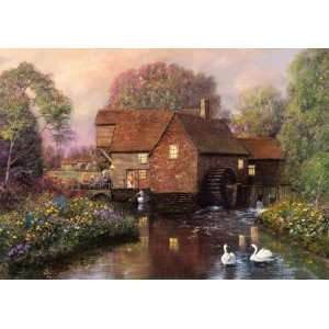 The Old Watermill 250 Piece Wooden Jigsaw Puzzle Toys & Games