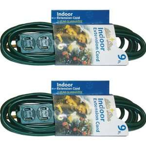 Set of 2 9ft Indoor Extension Cords